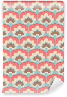 Pixerstick Duvar Kağıdı Kesintisiz bağbozumu çiçek deseni