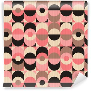 Vinil Duvar Kağıdı Kesintisiz bağbozumu geometrik desen