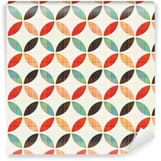 Vinil Duvar Kağıdı Kesintisiz geometrik dairesel desen