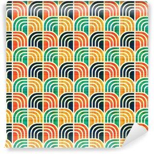 Vinil Duvar Kağıdı Kesintisiz geometrik desen