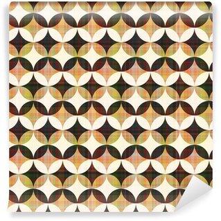 Vinil Duvar Kağıdı Kesintisiz soyut geometrik daire desen