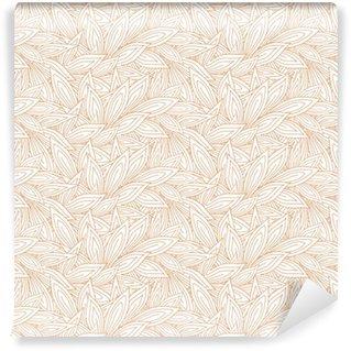 Vinil Duvar Kağıdı Kırmızı kontur sonbahar Sevimli sorunsuz desen beyaz (şeffaf) arka plan üzerinde bırakır. vektör çizim