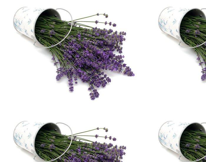 Vinil Duvar Kağıdı Lavanta - Çiçekler