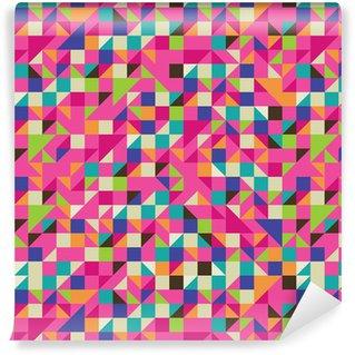 Pixerstick Duvar Kağıdı Mozaik renkli İllüstrasyon