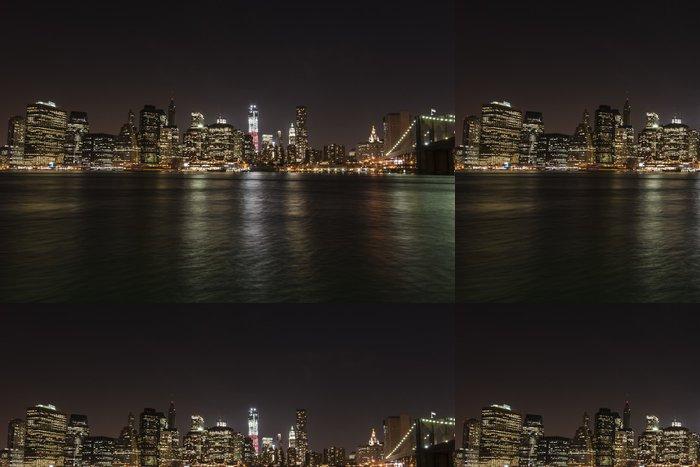 Vinil Duvar Kağıdı New York Manhattan - Brooklyn köprüsü - Amerika