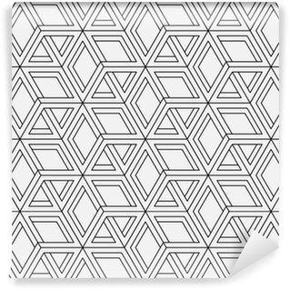 Vinil Duvar Kağıdı Op sanat tasarım dikişsiz geometrik desen. Vektör sanat.