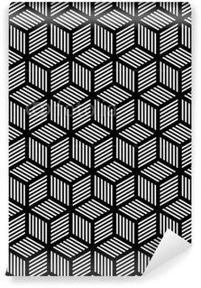 Vinil Duvar Kağıdı Op sanat tasarım dikişsiz geometrik doku.