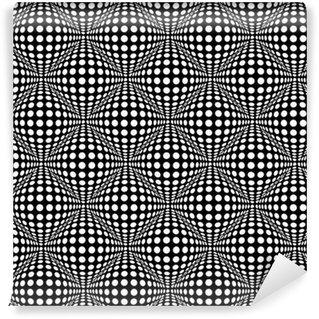 Vinil Duvar Kağıdı Optik 3D efekti ile sorunsuz desen.