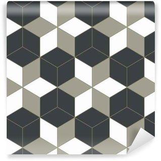 Vinil Duvar Kağıdı Özet 3D geometrik arka plan, mozaik