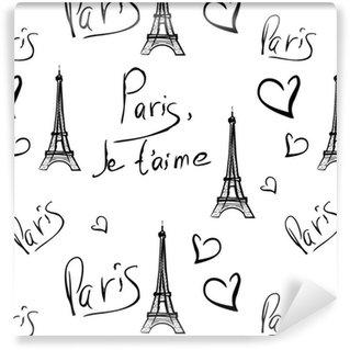 Pixerstick Duvar Kağıdı Paris vektör seamless pattern