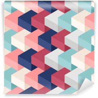 Vinil Duvar Kağıdı Renk küpleri sorunsuz desen