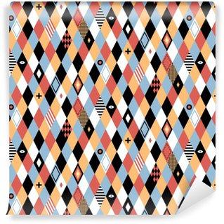 Vinil Duvar Kağıdı Renkli rhombuses düz stilde Kesintisiz geometrik desen. sarma, duvar kağıtları ve tekstil için faydalıdır.