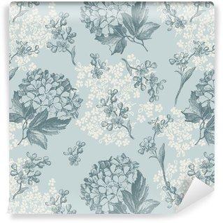 Vinil Duvar Kağıdı Retro çiçek duvar kağıdı - fayans sorunsuz