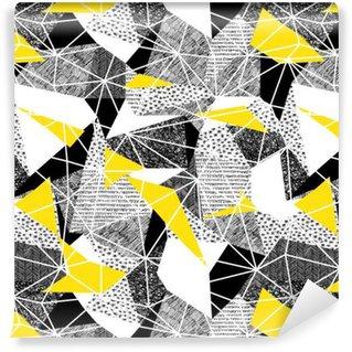 Vinil Duvar Kağıdı Retro tarzda geometrik seamless pattern. Vintage background.Tr