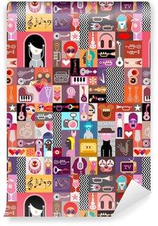 Pixerstick Duvar Kağıdı Sanat Kolaj / Sanat Kompozisyon