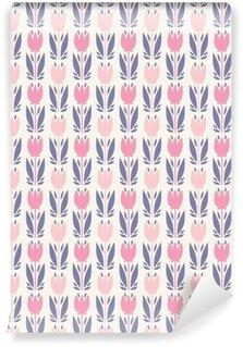 Pixerstick Duvar Kağıdı Seamless floral pattern