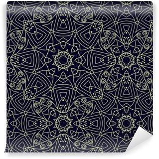 Pixerstick Duvar Kağıdı Seamless vector etnik süslü arka plan.