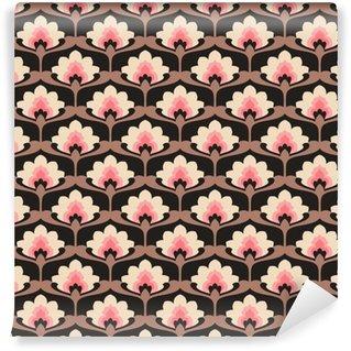Pixerstick Duvar Kağıdı Seamless vintage floral pattern.