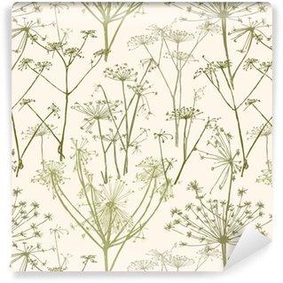 Vinil Duvar Kağıdı Şemsiye çiçek deseni