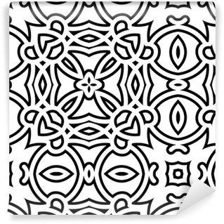 Pixerstick Duvar Kağıdı Siyah ve beyaz kafes, geometrik seamless pattern