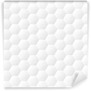 Vinil Duvar Kağıdı Sorunsuz bereli altıgenler beyaz duvar doku. Petek arka plan vektör desen
