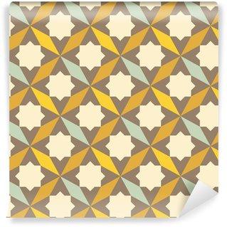 Pixerstick Duvar Kağıdı Soyut bir retro geometrik desen