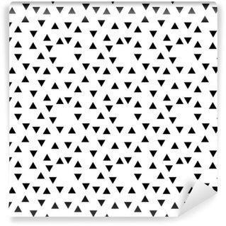 Vinil Duvar Kağıdı Soyut geometrik siyah ve beyaz yenilikçi moda rastgele üçgen desen
