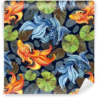 Pixerstick Duvar Kağıdı Suluboya Asya goldfishes