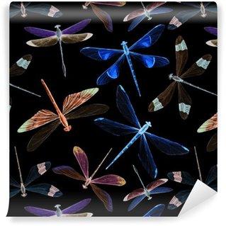Pixerstick Duvar Kağıdı Suluboya yusufçuk desen