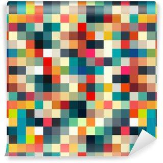 Pixerstick Duvar Kağıdı Tasarım için kesintisiz soyut geometrik Retro desen