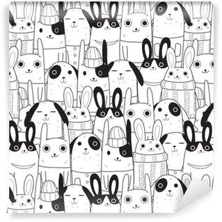 Pixerstick Duvar Kağıdı Tavşan sorunsuz desen