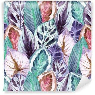 Vinil Duvar Kağıdı Tropikal yapraklar