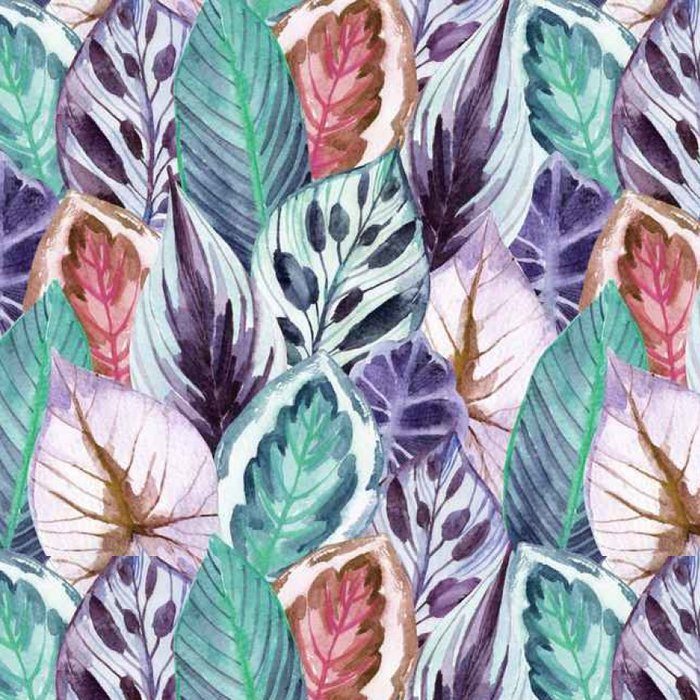 Vinil Duvar Kağıdı Tropikal yapraklar - Çiçek ve bitkiler
