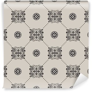 Vinil Duvar Kağıdı Vektör damask seamless pattern background