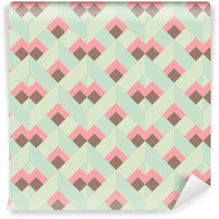 Vinil Duvar Kağıdı Vektör Renkli soyut bir retro kesintisiz geometrik desen