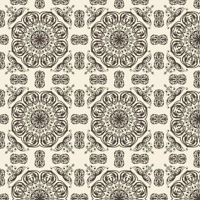 Vinil Duvar Kağıdı Vektör sorunsuz çiçek bağbozumu desen - Arka plan