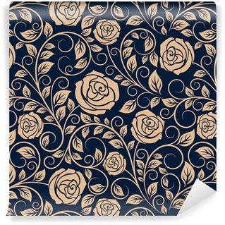 Vinil Duvar Kağıdı Vintage güller çiçekler seamless pattern