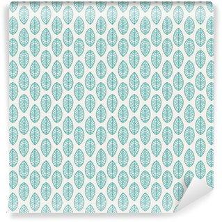 Pixerstick Duvar Kağıdı Yaprakları ile Seamless pattern