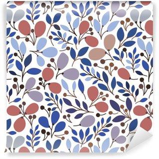 Vinil Duvar Kağıdı Yaprakları ile Vektör sorunsuz desen. Bu desen dolguları için, dokular, web sayfası arka planlar, tekstil ve daha yüzey, bir duvara asılı ya da poster için masaüstü duvar kağıdı veya çerçeve için kullanılabilir.