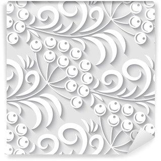 Vinil Duvar Kağıdı Zarif 3d seamless floral pattern. vektör illüstrasyonu
