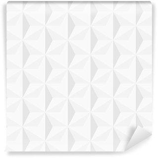 Vinil Duvar Resmi 3d beyaz geometrik arka plan