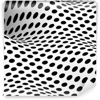 Vinil Duvar Resmi 3d Geometrik noktalar dalgalanma - A