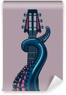 Vinil Duvar Resmi Ahtapot dokunacı bir gitar riff düzenliyor.