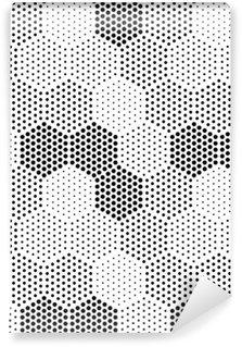 Vinil Duvar Resmi Altıgen Illusion Desen
