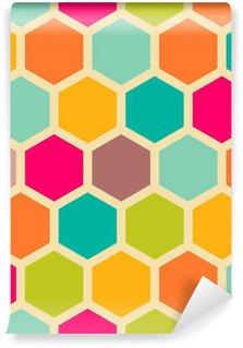 Vinil Duvar Resmi Altıgenlerle Retro geometrik seamless pattern
