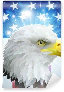 Vinil Duvar Resmi Amerika kartal bayrak kavramı
