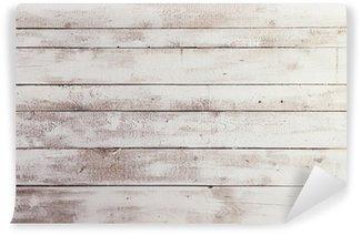 Vinil Duvar Resmi Arka plan olarak doku ile beyaz ahşap levhalar