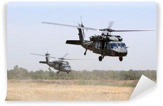 Vinil Duvar Resmi Askeri Helikopter Takımı