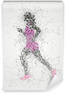 Vinil Duvar Resmi Atlet tasarımı