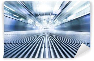 Vinil Duvar Resmi Başarı iş modern yürüyen merdiven yolu hareketli